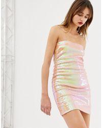 Warehouse - Ashish Sequin Bandeau Dress - Lyst