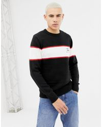 New Look - Jumper With Nyc Embroidery In Black - Lyst