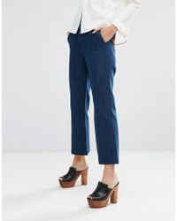 M.i.h Jeans - M.i.h Jeans Coler Flare With 70s Star Patch Pocket Detail - Lyst