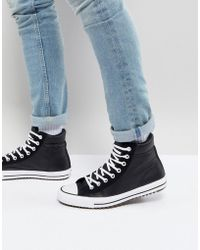 0d01309a412f Converse - Chuck Taylor All Star Street Trainer Boots In Black 157496c001 -  Lyst