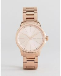 Armani Exchange - Rose Gold Lady Banks Watch - Lyst