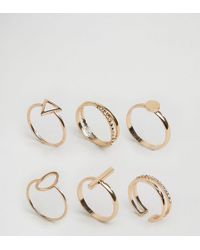 ALDO | Delicate Geometric Stacking Rings | Lyst