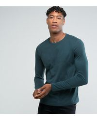 Original Cheap Price Free Shipping Genuine TALL Longline Long Sleeve T-Shirt With Colour Block Sleeves & Progress Embroidery - Navy Asos Cheap Wholesale Clearance 100% Original Outlet Nicekicks BebGw3SKza