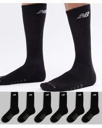 New Balance - 6 Pack Crew Socks In Black N5050-801-6eu Blk - Lyst