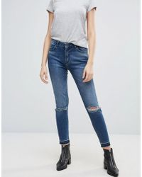 Minimum - Skinny Jeans With Rips - Lyst