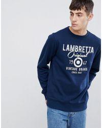 Lambretta - Sweatshirt mit Logo - Lyst