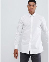 HUGO - Hugo Extra Slim Fit Poplin Shirt In White - Lyst