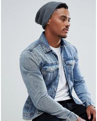 3ac907bd5b7 ASOS - Asos Slouchy Beanie In Gray Recycled Polyester - Lyst
