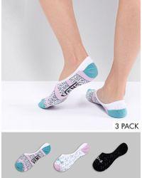 Vans - 3pk Printed Socks - Lyst