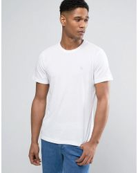 Abercrombie & Fitch | T-shirt Muscle Slim Fit Moose Logo In White | Lyst