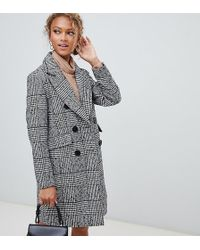 fba63c459fc8 New Look Brushed Leopard Print Tailored Coat in Brown - Lyst