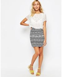 Madam Rage - Skirt In Geo Print - Lyst
