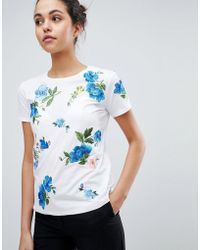 Sportmax Code - Floral Embroidered T-shirt - Lyst