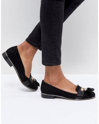 River Island - Tassel Front Loafers - Lyst