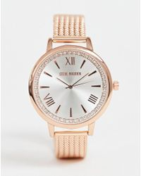 Steve Madden - Womens Rose Gold And Silver Watch - Lyst
