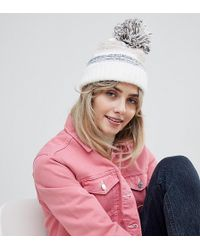 New Look - Knitted Bobble Hat - Lyst