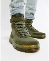 Dr. Martens - Combs Tech Tie Boots In Khaki - Lyst