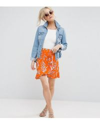 ASOS - Mini Skirt In Ditsy Print - Lyst