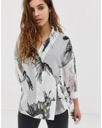 Religion - Wrap Blouse In Bird Print - Lyst