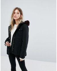 UGG - Field Jacket With Toscana Shearling Fur Hood - Lyst