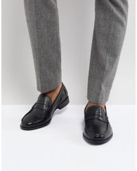 Ben Sherman - Penny Loafers In Pebble Black Leather - Lyst
