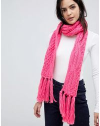 Vero Moda - Cable Knitted Scarf - Lyst