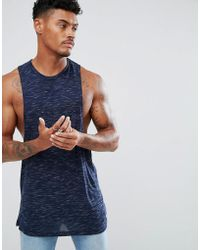 ASOS - Sleeveless T-shirt With Racer Back In Inject Fabric - Lyst