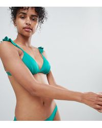 Monki - Tanga Bikini Bottoms In Green - Lyst