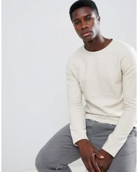 SELECTED - Long Sleeve T-shirt With Textured Structure - Lyst