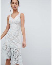 Coast - Lichina Mint Lace Midi Dress - Lyst