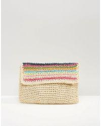 South Beach - Paper Straw Clutch Bag - Lyst