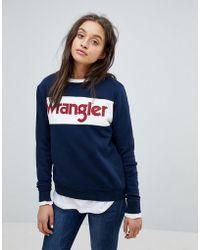 Wrangler - Block Logo Sweatshirt - Lyst
