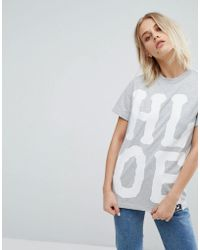 House of Holland - X Lee T Shirt With Oversized Logo Detail - Lyst