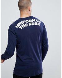 49708e95944 G-Star RAW - Uniform Of The Free Back Logo Long Sleeve T-shirt
