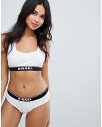 DIESEL - Bra Top With Logo - Lyst