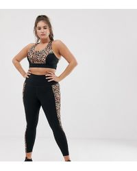56396c8c681e Onzie Exclusive To Asos Leopard Print Mesh Panel Yoga Leggings - Lyst