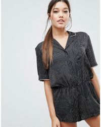 DKNY - The Match Up Romper - Lyst