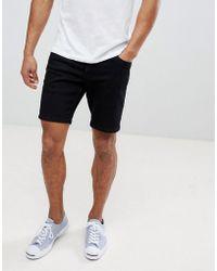 Farah - Drake Denim Shorts In Black - Lyst