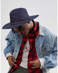Brixton - Ranger Ii Wide Brim Hat In Navy - Lyst