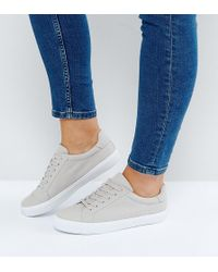 ASOS - Asos Devlin Wide Fit Lace Up Sneakers - Lyst
