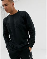 Calvin Klein - Sweat-shirt ras de cou empicements - Lyst