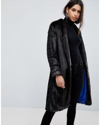 Helene Berman - Suki Collarless Faux Fur Coat - Lyst