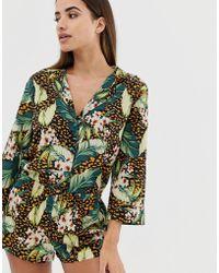 ASOS - Animal & Palm Short Pyjama Set - Lyst