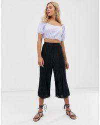 Love - Wide Leg Paper Bag Waist Trousers - Lyst