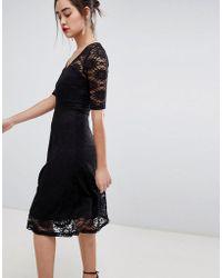 Sugarhill - Imelda Lace Midi Dress - Lyst