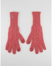 Polo Ralph Lauren - Cashmere Blend Cable Knit Gloves - Lyst