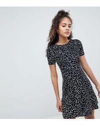 ASOS - Asos Design Tall Ultimate Mini Tea Dress In Scatter Spot - Lyst