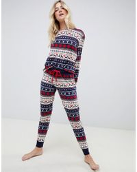 Chelsea Peers Fairisle Long Pyjama Set