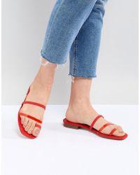 Bershka - Clean Multi Strap Flat Sandals - Lyst