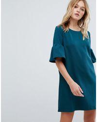 Pull&Bear - Frill Sleeve Tee Dress - Lyst